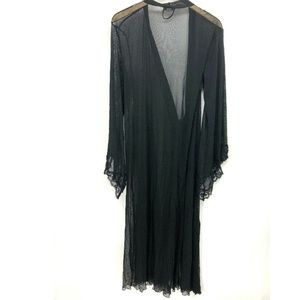 VTG Fredericks Of Hollywood Women's Robe Sheer L